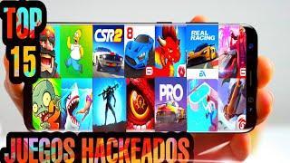 TOP 15 MEJORES JUEGOS HACKEADOS para Android | Descargas Mediafire | Actualizados Junio 2020