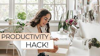 New Productivity Hack! How I Improved My Time Management and Increased My Productivity