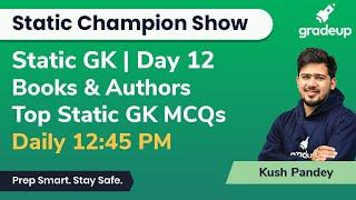 Top Static GK MCQ for All Exams by Kush Pandey | Books And Authors | Gradeup