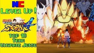 Top 10 Naruto Storm 4 Ultimate Jutsu -- Level Up!
