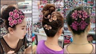Top 10 amazing hairstyles  at home ♥️ Hairstyles Tutorials ♥️ Easy hairstyles with hair  accessories