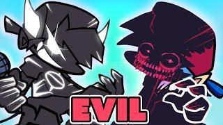 FRIDAY NIGHT FUNKIN' mod EVIL Boyfriend vs BF DAY 2!