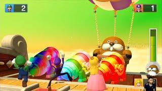 Mario Party 10 Whimsical Waters Luigi Vs Waluigi Vs Spike Vs Peach