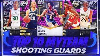 THE TOP 10 BEST SHOOTING GUARDS IN NBA 2K21 MYTEAM!! OCTOBER TOP 10 SHOOTING GUARDS!!
