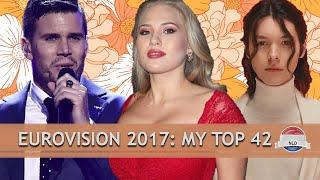 EUROVISION 2017: MY TOP 42 // ROAD TO 2000
