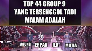 hasil akhir Lida 2020 top 44 group 9