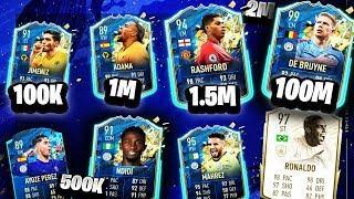 FIFA 20 7 SQUAD BUILDER 100K, 200K, 500K, 1M, 1.5M, 2M, 100M HYBRID SQUAD BUILDER