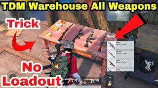 PUBG Mobile TDM Warehouse is Back | All Weapons on The Table | No Loadout PUBG Mobile