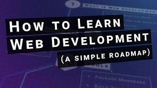How to learn web development (simple roadmap)