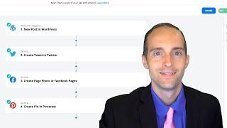 Share New Wordpress Posts Automatically with Zapier to Facebook, Twitter, LinkedIn, and Pinterest