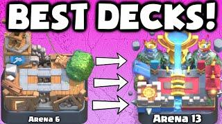 Clash Royale BEST ARENA 6 - ARENA 13 DECKS UNDEFEATED   BEST DECK ATTACK STRATEGY TIPS F2P PLAYERS