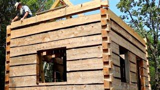 Round 10, Dovetail Log Cabin build, (Ep 34)