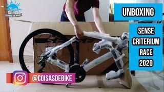 Unboxing BIKE speed SENSE CRITERIUM RACE 2020 - Pensa numa bike bonita!