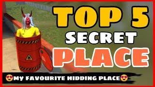 Top 5 Secret Place FreeFire || Part-13 || Rank Push Tips And Tricks Free Fire -4G Gamers