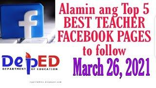 Alamin ang TOP 5 BEST TEACHER FACEBOOK PAGES to follow ||Best Facebook Pages || @wildtv oreg