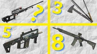 TOP 10 WEAPONS in Rogue Company!