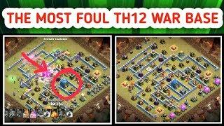 The Most Foul & Popular TH12 War Base 3 Star Attack (Clash of clans)