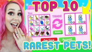 I Traded The Top 10 Rarest Pets In Adopt Me! (Adopt Me Roblox)