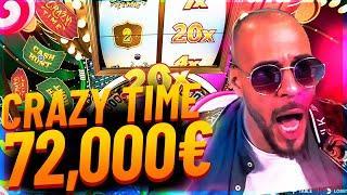 Streamer Mega win 72.000€ on Crazy Time slot - Top 10 Biggest Wins of week #4
