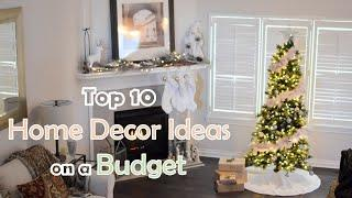 Top 10 Home Decor Ideas & Trends on a Budget   Decorating Tips   Christmas, Living Room, Wall, Door