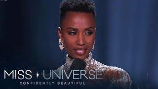 The winning answer of Miss Universe 2019 Zozibini Tunzi | Miss Universe 2019