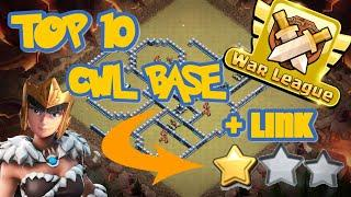 TOP 10 TH13 WAR BASES + LINKS 2010 March  Best Town Hall 13 War Base Clash of Clans