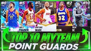 RANKING THE TOP 10 BEST POINT GUARDS IN NBA 2K21 MYTEAM!! NBA 2K21 MYTEAM BEST POINT GUARDS!!