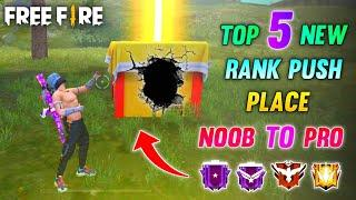 Top 5 New Solo Rank Push Place In Free Fire #4 || Free Fire Hidden Places || Free Fire Tricks