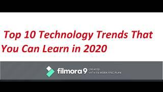 Top 10 technologies to learn in 2020   Trending Technologies in 2020  @gstech