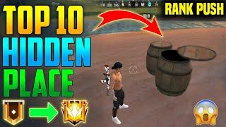 Top 10 Hidden And Secret Place For Rank Pushing - Free Fire