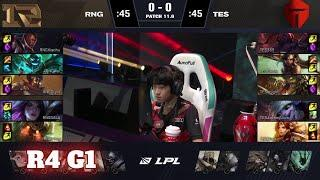 RNG vs TES - Game 1   Round 4 LPL Spring 2021 playoffs   Royal Never Give Up vs Top Esports G1