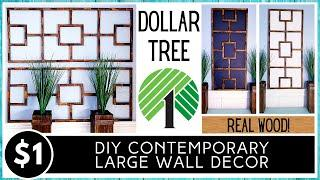 DOLLAR TREE DIY Wall Decor | Modern Contemporary Wood Design | HIGH END LOOK | Tumbling Tower Blocks