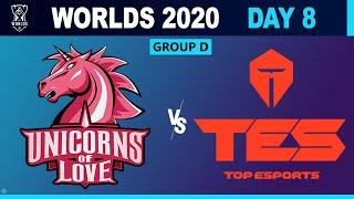 Unicorns Of Love vs Top Esports - Worlds 2020 Group Stage - UOL vs TES