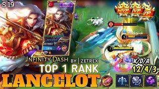 Top Global Lancelot - Infinity Dash Fast Hand | Gameplay Season 19 | by ZETREX - mobile legends