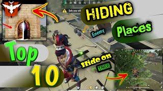 Top 10 Clock Tower Hidden Place In Free Fire || Rank Pusk Hiding Places || Hindi || FhAmEy