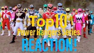 POWER UP!! Top 10 Power Rangers Reaction!