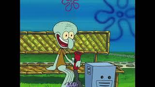 Squidward Laughing on the Bench for 10 Hours