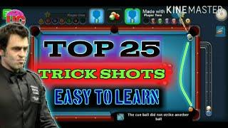 Top 25 Trick Shots In 8 Ball Pool | Easiest Way To Learn These Trick Shots By Ultimate Creator.