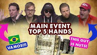 2014 WSOP Main Event - Top 5 Hands   World Series of Poker