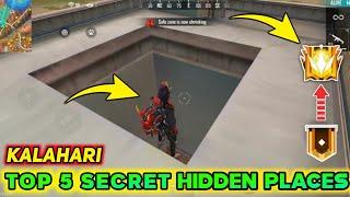 Top 5 Secret Place In Kalahari Map Free Fire || Top 5 Hidden Place In Kalahari || Sid Gamer Tamil
