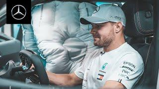 Valtteri Bottas at the Research and Development Department