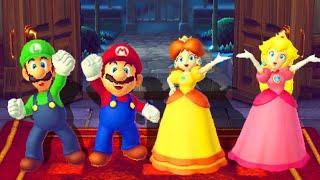 Mario Party 10 - Minigames - Mario vs Luigi vs Peach vs Daisy - Master Difficulty