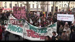 LIVE: French unions protest in Paris as French government pushes through pension reform by decree