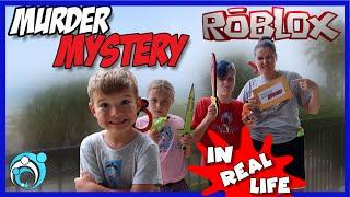 Roblox MM2 Game In Real Life at Our Beach House (Thumbs Up Family)