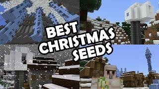 The BEST MINECRAFT SEEDS for CHRISTMAS 2019! (Minecraft Bedrock Edition Seeds)