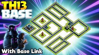 *KILLER* Best TH13 War Base (With Link) - Anti 2 Star War Base - Clash of Clans #21