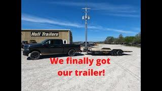 We FINALLY picked up our new equipment trailer!!!