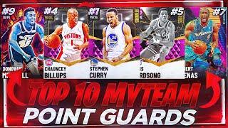 RANKING THE TOP 10 BEST POINT GUARDS IN NBA 2K21 MYTEAM!! NOVEMBER TOP 10 POINT GUARDS!!