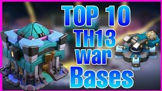 Th13 top 10  war bases with download link    Anti 2 star bases   clash of clans .