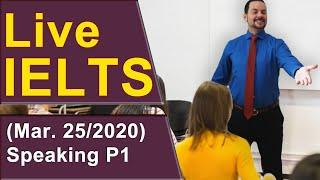 IELTS Live - Speaking Part 1 - Starting with Band 9